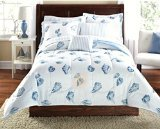 Seashells, Beach Themed, Nautical Queen Comforter Set (8 Piece Bed In A Bag) (Beach Theme Sheets compare prices)