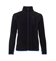 Funnel Neck Zip Through Thermal Fleece Jacket