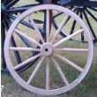 Decorative - Wood Wagon Wheel - 48 Inch x 1 Inch Steam Bent Hickory Wagon Wheel with wooden hub.