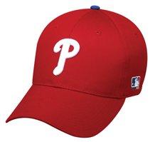 MLB ADULT Philadelphia PHILLIES HomeRed Hat Cap Adjustable Velcro TWILL