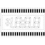 Lumex - Lcd-S3X1C50Tr/C - Display, 7 Segment, 3 1/2, 12.54Mm