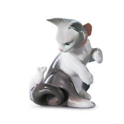 Lladró Cat And Mouse Figurine
