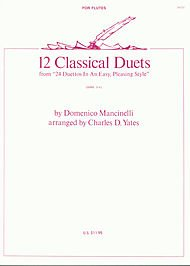 12 Classical Duets (From 24 Duettos In An Easy, Pleasing Style)