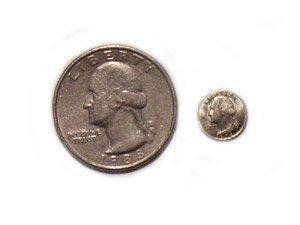 Mini Coin - 25 Cent Piece (Quarter Dollar)