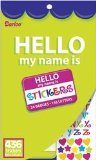 Velvet Sticker Book, Hello My Name Is, 436 Stickers