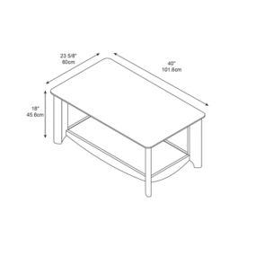 Amazon.com - BUSH FURNITURE Aero Collection Coffee Table