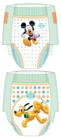 HUGGIES Slip-Ons feature playful Disney Mickey and Pluto graphics and flexible, easy-open sides for