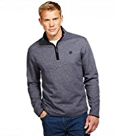 Blue Harbour Pure Cotton Two Tone Half Zip Top