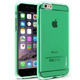 INSTEN Slim Fit Transparent TPU Case for Apple iPhone 6 - Retail Packaging - Clear/Neon Green