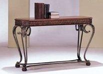 3-pc Carmel Design Sofa Table in Cherry Finish Acs70744