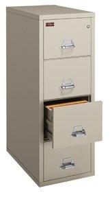 FireKing 3 Drawer Letter Vertical 2 hr Fire Proof File Cabinet 3-1943-2