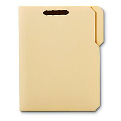 [IN]PLACE Reinforced Manila Folder with Embossed Fastners, 1/3 Cut-Assorted, 2 Fasteners, Letter, 50/Box