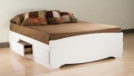Prepac White Full Mate_s Platform Storage Bed with 6 Drawers (White Queen Bed With Storage compare prices)
