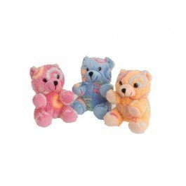 Set of 3 Adorable Plush Rainbow Swirl Teddy Bears (Approx. 5in. X 3in.) / Party / Prize / Favor /Gift