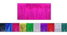 Cerise Metallic Fringe Table Skirt