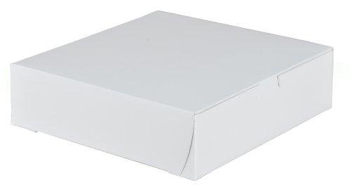 Southern Champion Tray 0953 Premium Clay-Coated Kraft Paperboard White Non-Window Lock Corner Bakery Box, 9
