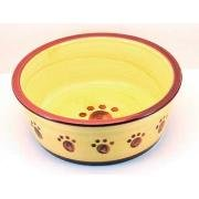 Ethical Pet Products Designer Stoneware Classic Paw Print Dog Dish Spot Design Clas/Paw Dis 6 Blu Bowls & Feeding Supplies