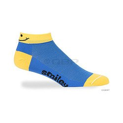 Buy Low Price Defeet DeFeet Speede Smiley Blue/Yellow XL (SPDSMI401)