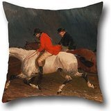 Throw Pillow Covers 20 X 20 Inches / 50 By 50 Cm(each Side) Nice Choice For Club,chair,kids,christmas,living Room,bedding Oil Painting John Frederick Herring Jr. - Returning From The Hunt (Top Split Hot Dog Rolls compare prices)