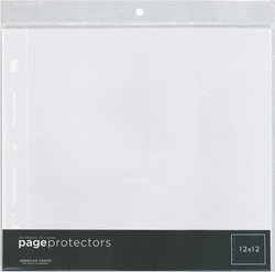 American Crafts 12-Inch by 12-Inch Page Protectors