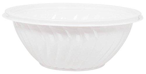 Amscan Classic Plastic Bowl, 2.5 quart, White