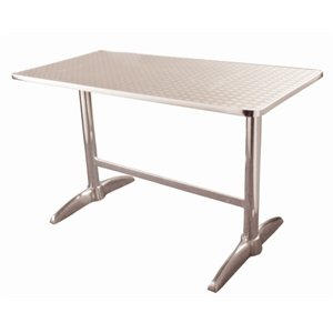 Bolero Double Pedestal Table - Rectangular. Stainless steel. 1200 x 600mm.