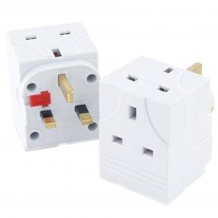 3-way-uk-mains-household-plug-adaptor-socket-13a-fused-adaptors