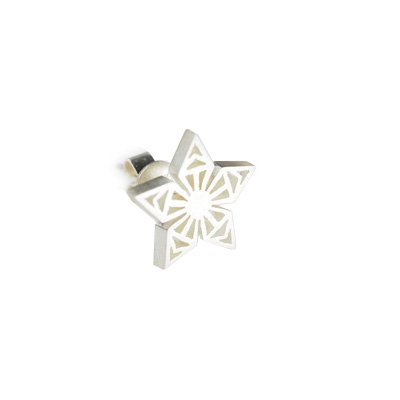 Silversmith 925 Sterling Silver Celtic Design Classic Star Stud Single Earring, Fashion Jewelry For Women, Girl & Teens