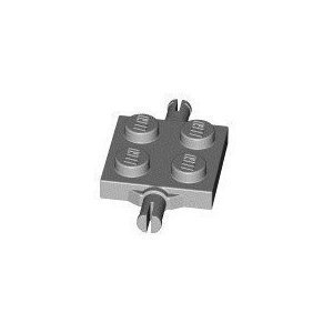 Lego Building Accessories 2 X 2 Grey Bearing Element Brick, Bulk - 50 Pieces Per Package front-882696
