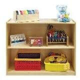 Mobile Deep Classroom Storage Shelf ~ ECR4Kids