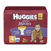 Huggies Little Movers Original Diapers - Size 4 - 46 ct - 1