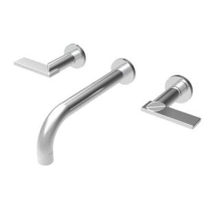 Newport Brass 3-2481/03W Priya Bathroom Faucet Wall Mounted with Metal Lever Handles, Weathered Brass