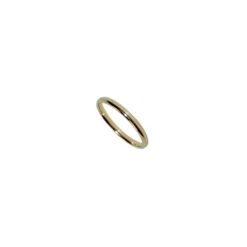 10 KT Solid Yellow Gold Comfort Fit 2mm Wide Wedding / Engagement Band Plain Ring: Jewelry
