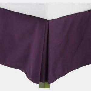 Js Sanders Solid Bedskirt Full Size, Eggplant (Purple) front-899994