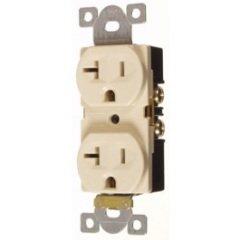 (Pack of 10 PCS in a Box) Vista 45134 - Industrial Grade 20A-125V Duplex Outlet, NEMA 5-20R, White Color