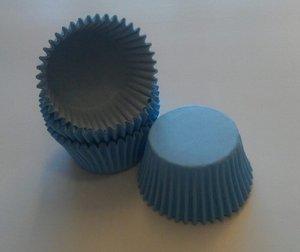 Sugar'N'Ice - Capacillos para Muffins/Pastelillos en Color Negro/Rosa/Rojo o Azul - Alta Calidad - Paquete con 48 Piezas - Azul