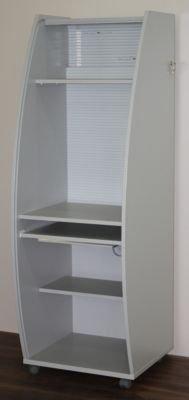 office akktiv Armoire mobile pour ordinateur à rideaux en plastique - variante Basic, h x l x p 1785 x 600 x 630 mm 2 tablettes, l x p 560 x 300 mm - armoire informatique armoire pour ordinateur armoires informatiques armoires pour ordinateur meubl