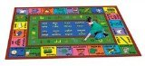 "Joy Carpets Kid Essentials Language & Literacy Spanish LenguaLink Rug, Multicolored, 5'4"" x 7'8"""