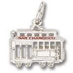 Rembrandt Charms San Francisco Cable Car Charm - Sterling Silver