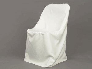 Spring Rose(TM) White Large Lifetime Polyester Folding Wedding Chair Covers (Pack of 10).