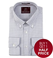 Sartorial Luxury Pure Cotton Checked Shirt