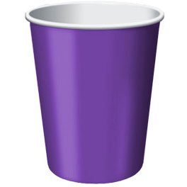 Purple Paper Cups 24ct