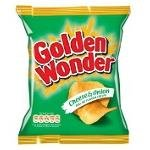 Golden Wonder Cheese & Onion Crisps 32.5g 48 Bags Full Box