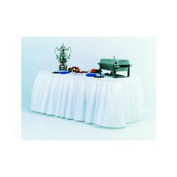 Atlantis Plastics 2TBSKW White Heavy Duty Plastic Embossed Table Skirting (2TBSKW) Category: Table Skirts