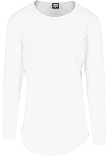Urban Classics - Shaped Fashion Long Sleeve Tee, Maglia a maniche lunghe Uomo, Bianco (Weiß), Large (Taglia Produttore: Large)