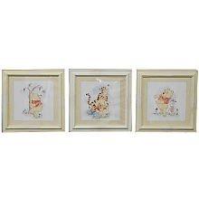 Disney Winnie The Pooh Patchwork 3 piece Wall Art