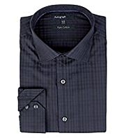 Boxed Autograph Pure Cotton Textured Checked Shirt