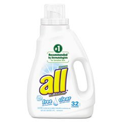 All Liquid Laundry Detergent, Free & Clear HE, 50 oz