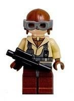 Naboo Fighter Pilot - LEGO Star Wars Figure with Blaster - 1
