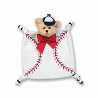 Bearington Baby Collection Wee Lil' Slugger Snuggler Security Blanket